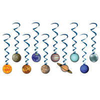 Space Party Supplies -Solar System Whirls Decorations 10 Pack
