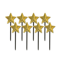 Hollywood Party Supplies Star Gold Cupcake Food Picks 8 pack