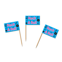 Rock & Roll Party Supplies Cupcake Food Picks 50 pack