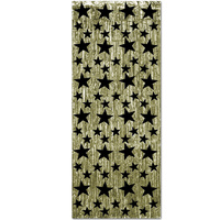 Hollywood Party Supplies Metallic Black and Gold Door Curtain