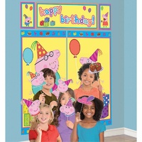 Peppa Pig Party Supplies Scene Setters Backdrop with Props