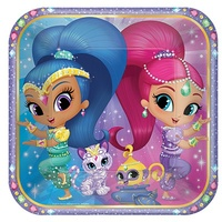Shimmer and Shine Party Supplies - Dinner Plates 8 Pack