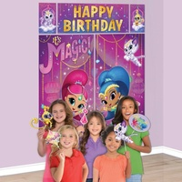 Shimmer and Shine Party Supplies Scene Setters Backdrop with Photo Props