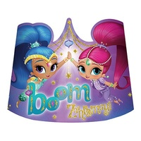 Shimmer and Shine Party Supplies - Tiaras Party Hats 8 Pack
