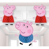Peppa Pig Party Supplies Honeycomb Hanging Decorations