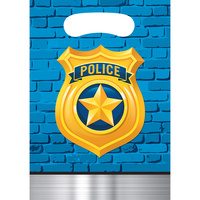 Police Party Supplies - Loot Bags 8 pack