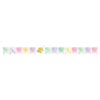 Unicorn Sparkle Party Supplies Pennant Shaped Banner
