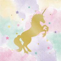 Unicorn Sparkle Party Supplies Lunch Napkins 16 Nack