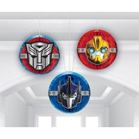 Transformers Party Supplies - Honeycomb Hanging Decorations 3 pack