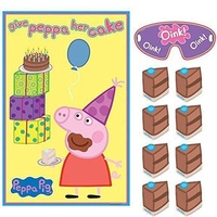 Peppa Pig Party Supplies - Give Peppa Her Cake Pin Game