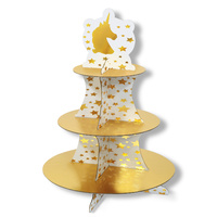 Unicorn Party Supplies Cupcake 3 Tier Stand