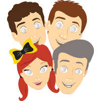 The Wiggles Party Supplies - Party Masks 8 pack