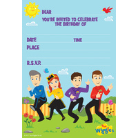 The Wiggles Party Supplies Invitations 8 pack