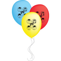 The Wiggles Party Supplies Anthony Emma Simon Lachy Balloons 6 pack