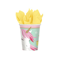 Unicorn Party Supplies Magical Unicorn Cups Paper 8 pack