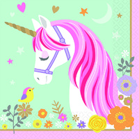 Magical Unicorn Party Supplies Magical Unicorn Lunch Napkins 16 pack