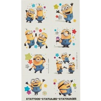 Despicable Me Party Supplies Set of 8 Temporary Tattoos