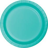Teal Lagoon Party Supplies Lunch Plates x 24 Pack