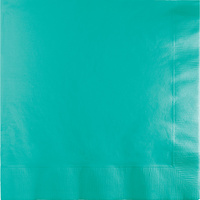Teal Lagoon Party Supplies Lunch Napkins 50 Pack