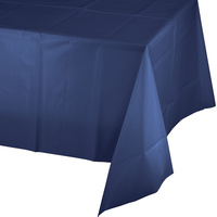 Navy Blue Party Supplies Plastic Tablecover