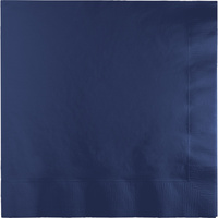 Navy Blue Party Supplies Lunch Napkins x 50 Pack