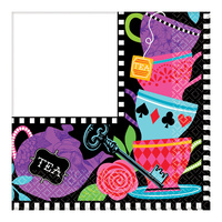 Alice In Wonderland Party Supplies - Mad Hatter Tea Party Lunch Napkins 16 pack Square