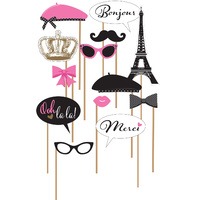 A Day in Paris Party Supplies Photo Booth Props Kit