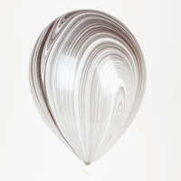Balloon Party Supplies Marble Black & White Agate Latex Balloon X 1 28cm