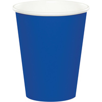 Cobalt Blue Party Supplies Paper Cups x 24 Pack