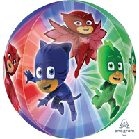 PJ Masks Party Supplies Orbz Round Balloon See-Thru Design