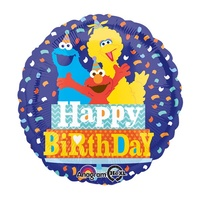 Sesame Street Party Supplies - Happy Birthday Foil Balloon