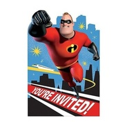 Incredibles 2 Party Supplies -  Post Card Invitations 8 Pack