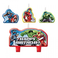 Avengers Party Supplies - Epic Happy Birthday Candle Set