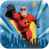 Incredibles 2 Party Supplies Lunch Plates 8 Pack Paper