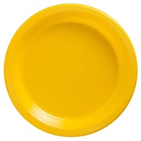 Sunshine Yellow Party Supplies - Pack of 20 Round Lunch Plates