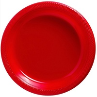 Red Apple Party Supplies Pack of 20 Round Lunch Plates