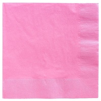 Light Pink Party Supplies - Lunch Napkins x 20 Pack