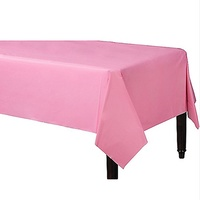 Light Pink Party Supplies Plastic Tablecover Rectangle