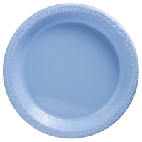 Pastel Blue Party Supplies Plastic Plates Pack of 20