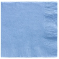 Pastel Blue Party Supplies - Lunch Napkins x 20 Pack