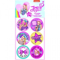 Jojo Siwa Party Supplies - Party Favours Stickers x 4 Sheet Pack
