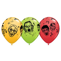 Halloween Party Supplies Zombie Balloons Latex 28cm Approx.