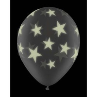 Halloween Party Supplies Glow in the Dark Star Balloons