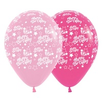 Birthday Party Supplies Pink Happy Birthday Shooting Stars Balloons