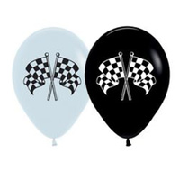 V8 Car Racing Party Supplies Racing Flag Latex Balloons