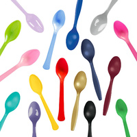 Solid Plain Coloured Spoons
