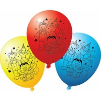 Play School Party Supplies Latex Balloons 6 Pack