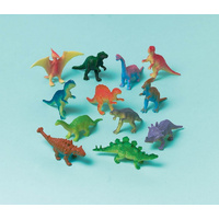 Dinosaur Party Supplies Mini Figurines Party Loot Favours Treats 12 Pack