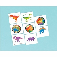 Dinosaur Party Supplies Tattoos Party Loot Favours 1 Perforated Sheet