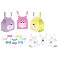 Easter Party Supplies Easter Bunny Favour Treat Boxes x 3